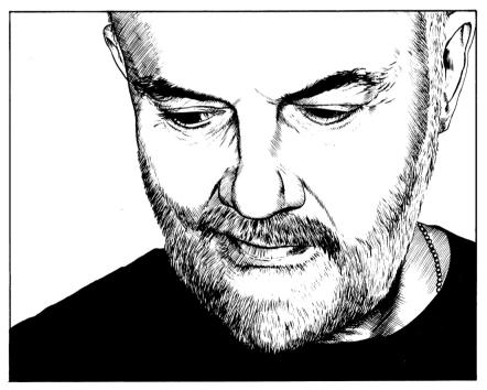 John Peel drawing by Lee Thacker