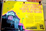 Sign outside the John Peel Centre