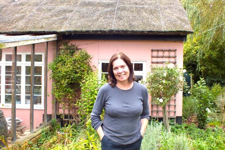 Sheila outside Peel Acres