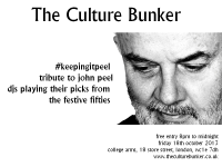 Culture Bunker - #keepingitpeel