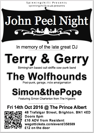 Spinningchilli presents - John Peel Night